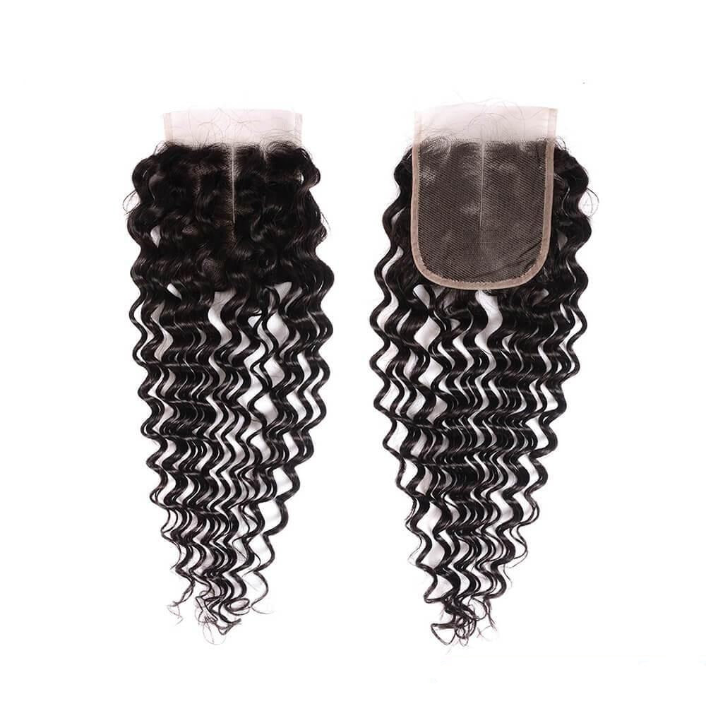 Deep Wave Closure Free Part Middle Part and Three Part Lace Closure 1 Piece