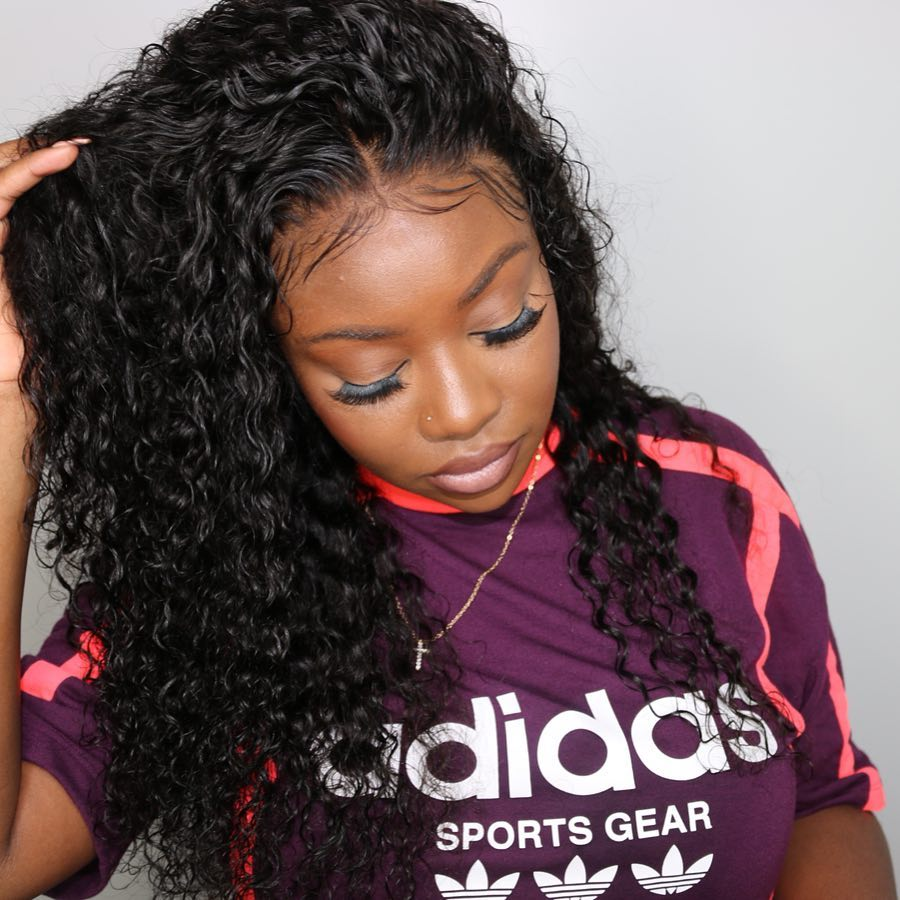 Hot Arabella Human Hair Wigs Deep Wave Full lace Wig Sale Online