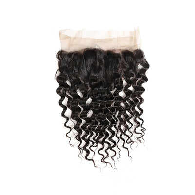 Deep Wave 360 Lace Frontal Closure Unprocessed Human Hair
