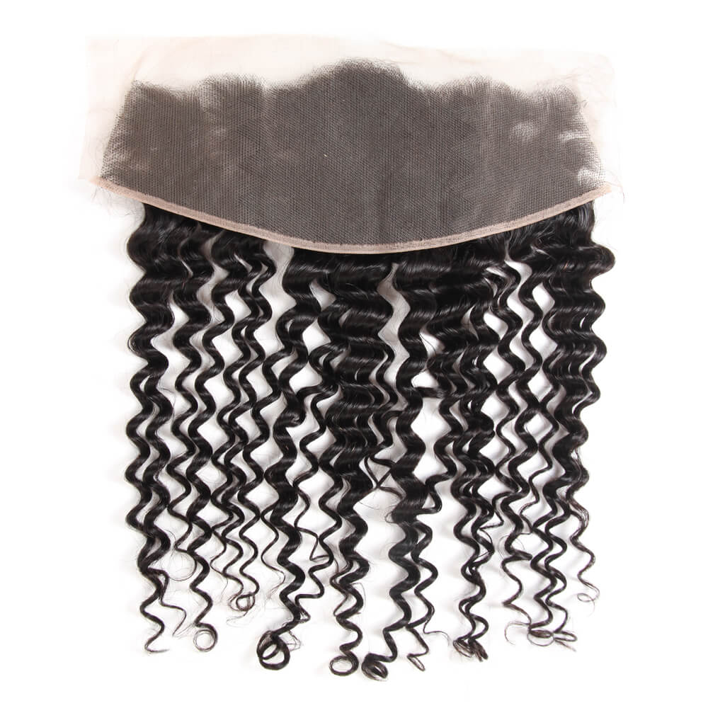 Arabella Human Virgin Hair Deep Wave Hair Lace Frontal Hair Closure 1 Piece