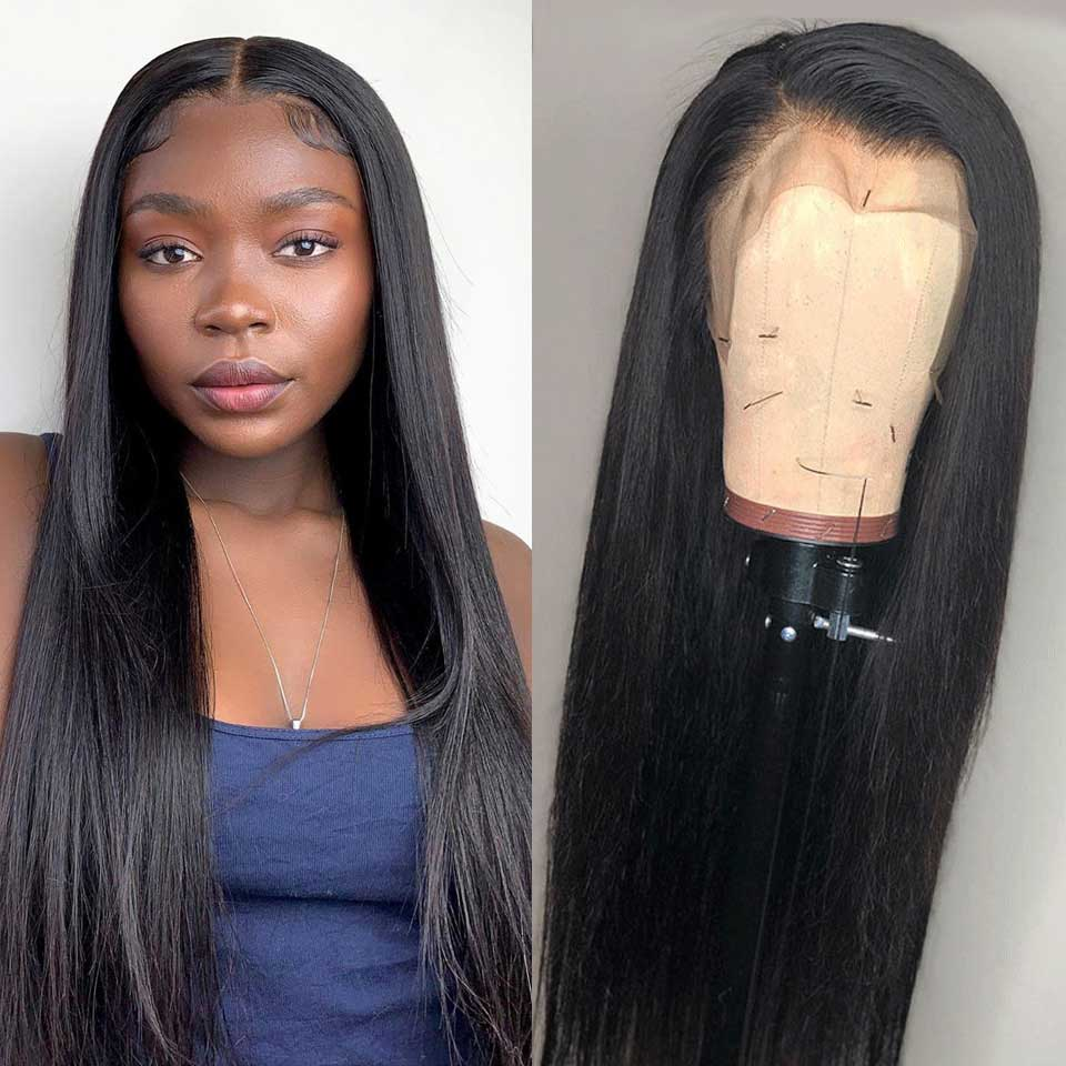 Arabella Human Hair Wigs Long Straight 13x4 Inch Lace Frontal Wig 210% Density