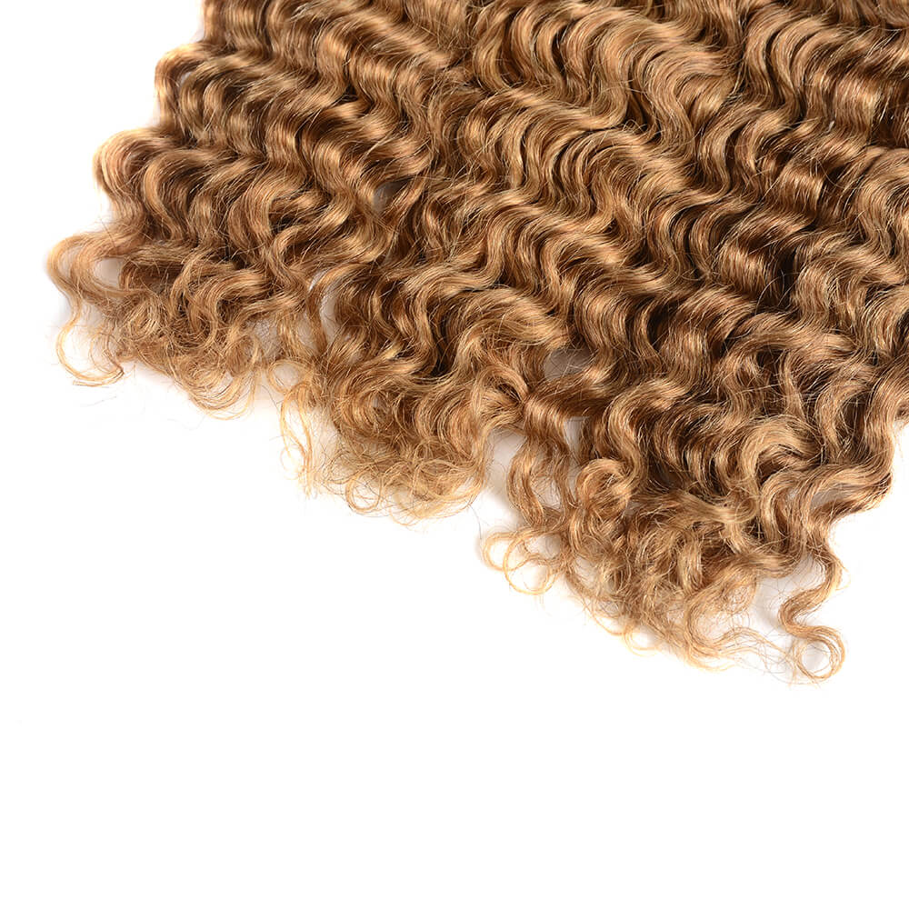 Brazilian Unprocessed Virgin Ombre T1b/27 Deep Wave 3 Bundles