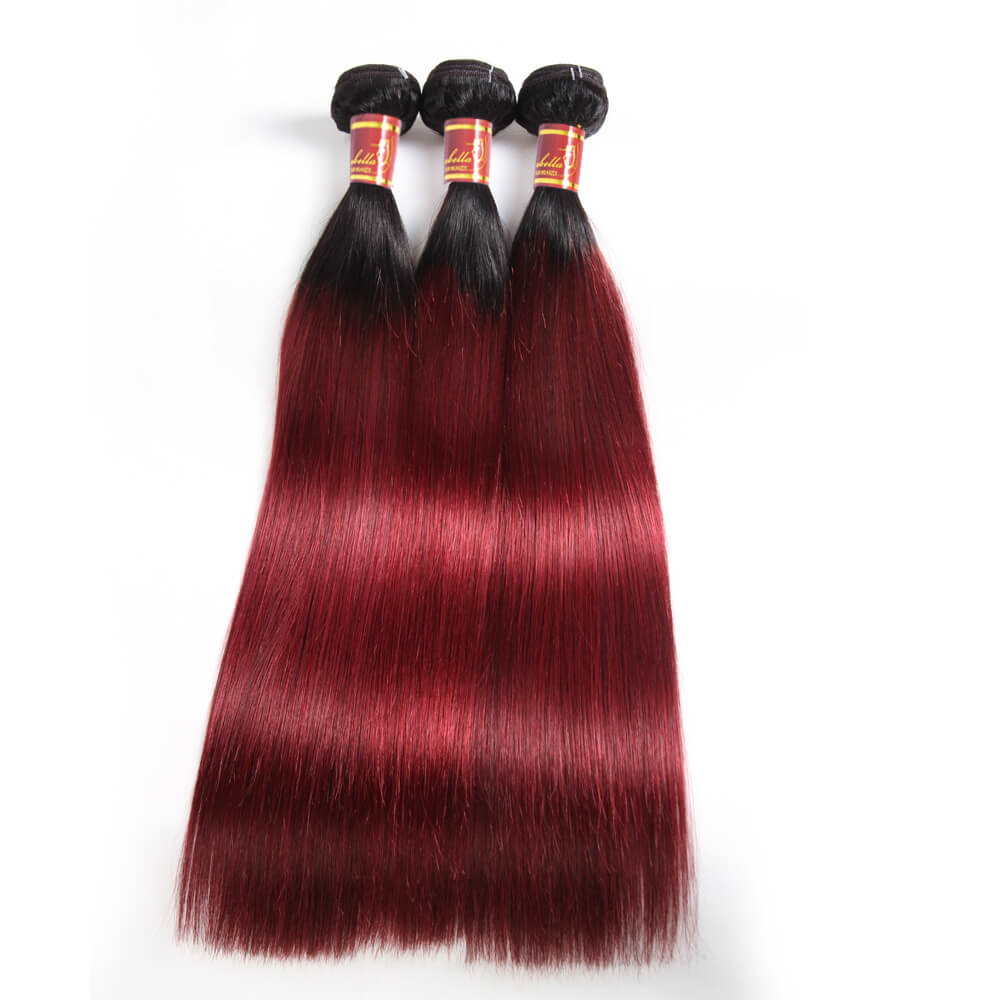 Brazilian Ombre T1b/99J Straight Hair 3 Bundles/pack Sale Online