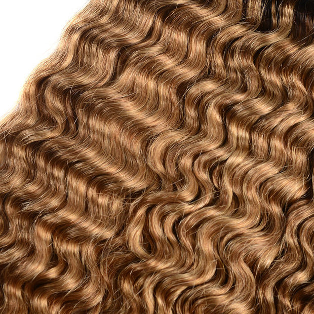 Peruvian Unprocessed Virgin Ombre T1b/27 Deep Wave 3 Bundles