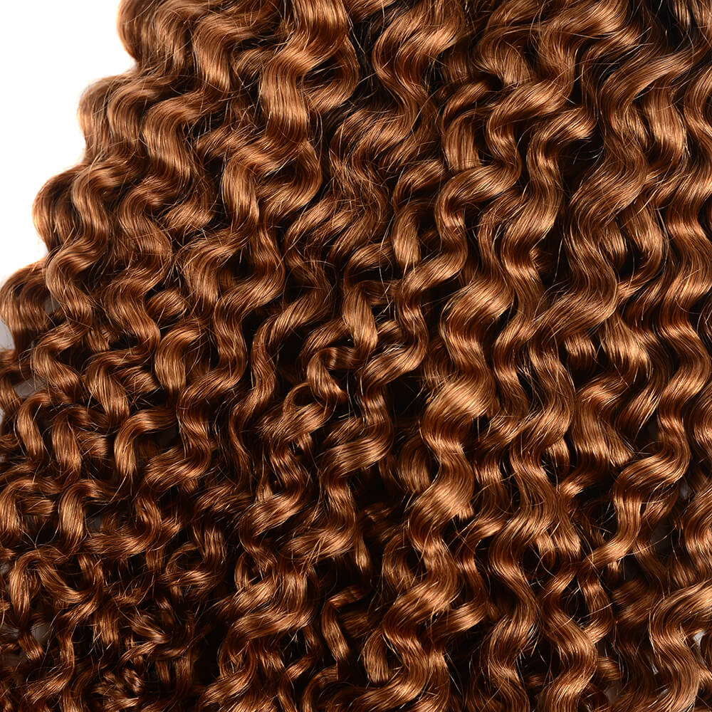 Brazilian Virgin Ombre T1b/30 Jerry Curly 3 Bundles