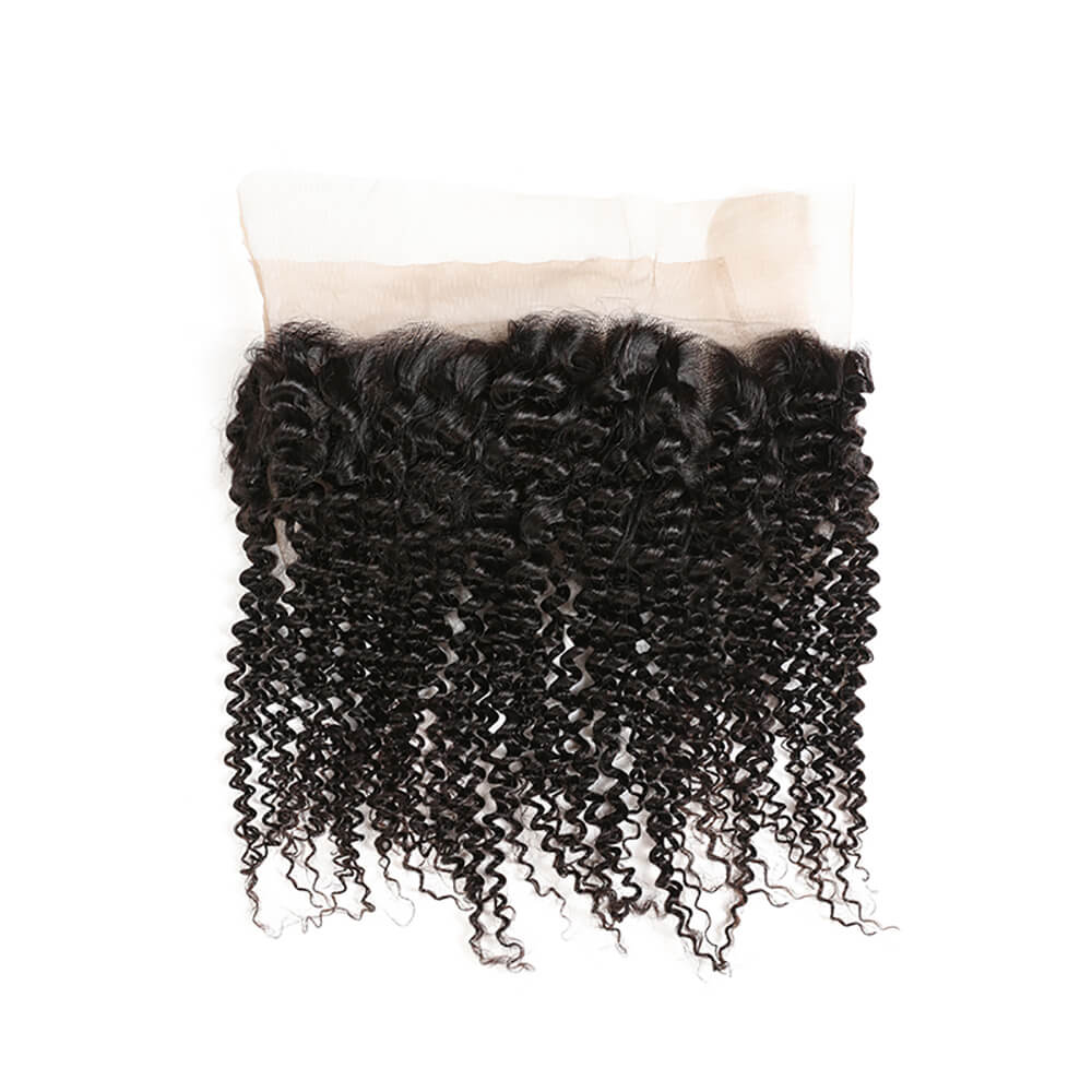 Kinky Curly 360 Lace Frontal Closure Unprocessed Human Hair