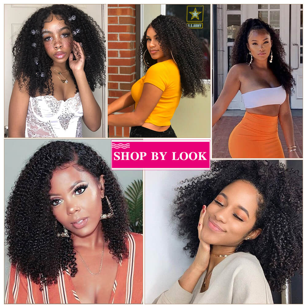 Arabella Human Hair Wigs Kinky Curly Full lace Wig 180% Density Sale Online
