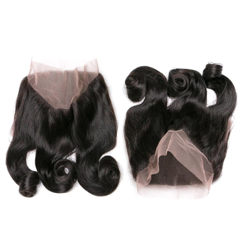 Loose Wave 360 Lace Frontal Closure Unprocessed Human Hair