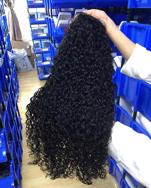 Flash boss Tear Sale: Arabella Human Hair Wigs  Jerry Curly Wave 4*4 lace Wig Sale Online 180% Density 32INCH