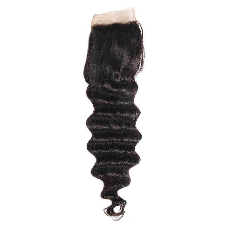 Loose Deep Wave Closure Free Part Middle Part and Three Part Lace Closure