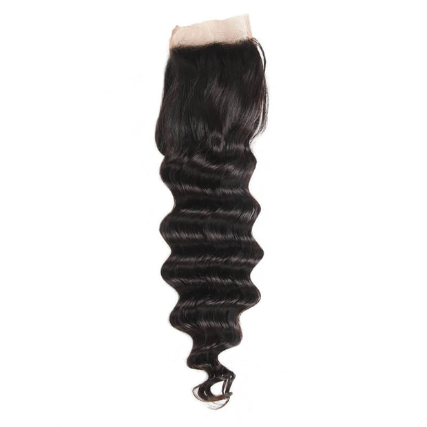 Loose Deep Wave Closure Free Part Middle Part and Three Part Lace Closure 1 Piece