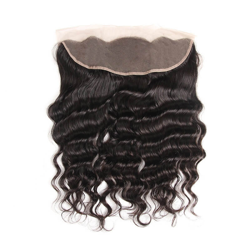 Arabella Human Virgin Hair Loose Deep Wave Hair Lace Frontal Hair Closure