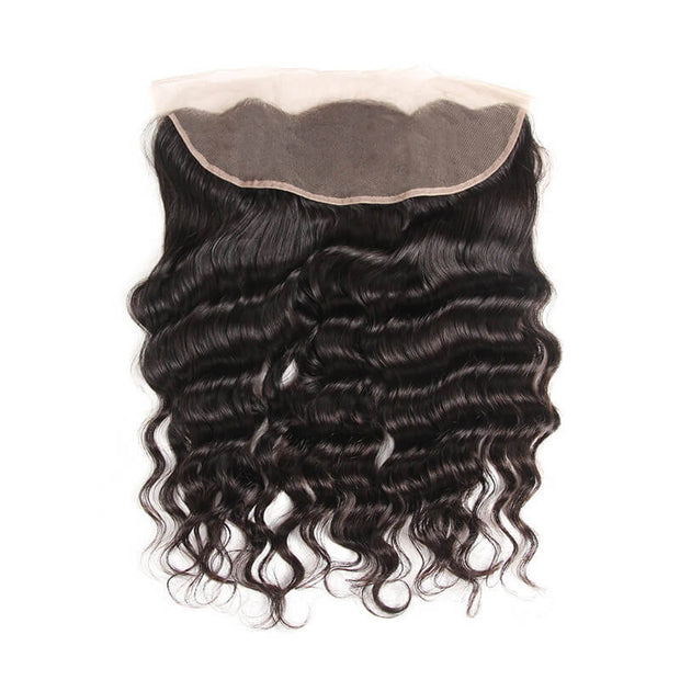 Arabella Human Virgin Hair Loose Deep Wave Hair Lace Frontal Hair Closure 1 Piece