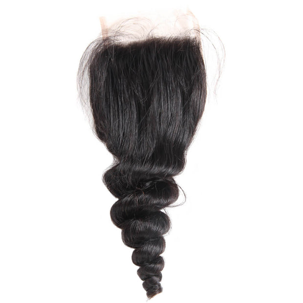 Loose Wave Closure Free Part Middle Part and Three Part Lace Closure 1 Piece