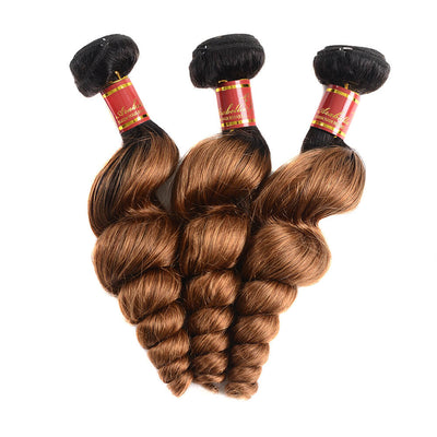 Brazilian Virgin Ombre T1b/30 Loose Wave 3 Bundles/pack
