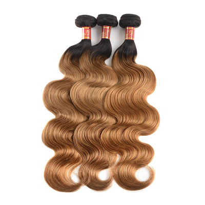 Arabella Hair Brazilian Ombre T1b/27 Virgin Body Wave 3 Bundles/pack
