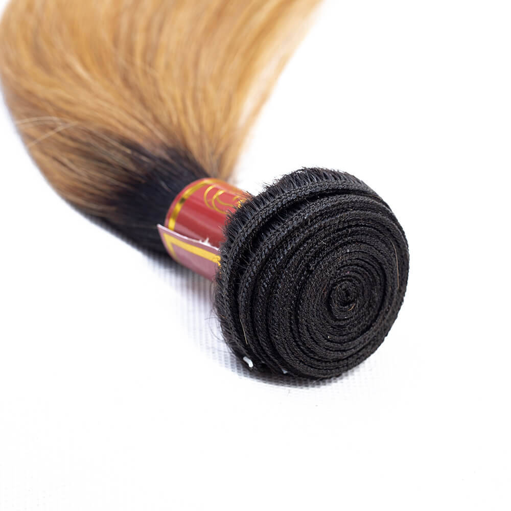 Brazilian Straight T1b/27 Human Hair 4 bundles/lot