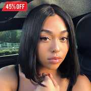 Double Drawn 15A Full End Human Hair Wig 13x6 Inch Lace Frontal Wig