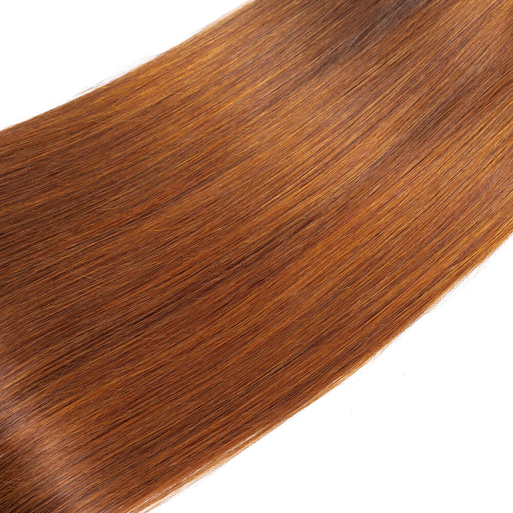 Indian Ombre T1b/30 Virgin Straight 3 Bundles/pack