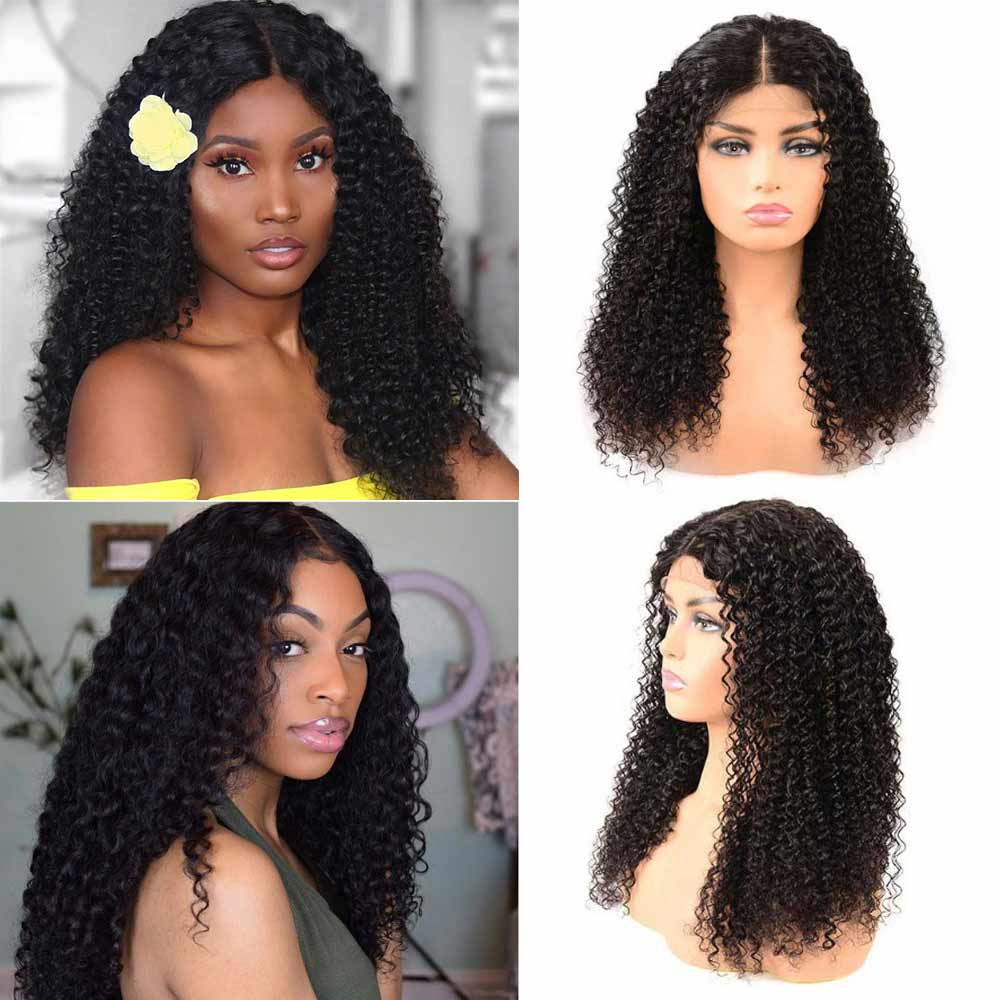 Arabella Human Hair Wigs Kinky Curly 4*4 lace Wig Sale Online