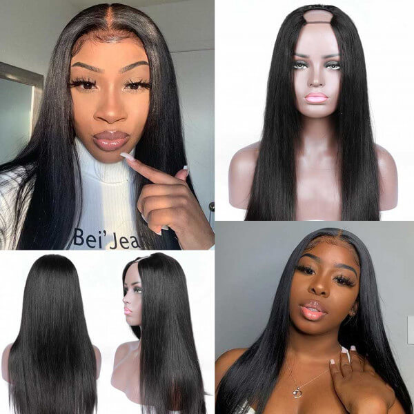 Arabella 2x4 U Part Wig Natural Hair Brazilian Human Hair Upart Wigs For Women 150% Density