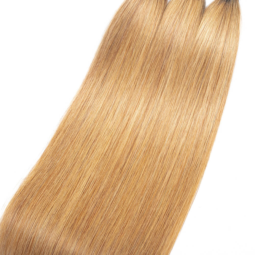 Arabella Hair Brazilian Ombre T1b/27 Virgin Straight 3 Bundles/pack