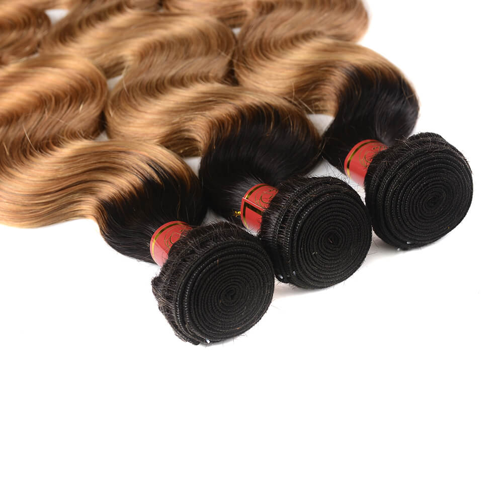 Brazilian Ombre T1b/27 Virgin Body Wave 3 Bundles/pack