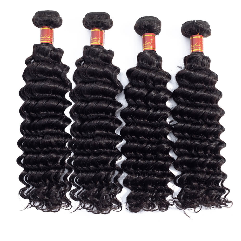 Brazilian Deep Wave Human Hair 4 Bundles/Pack