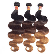 Peruvian Virgin Human Hair Ombre 1b/4/27 Body Wave 3pcs/pack