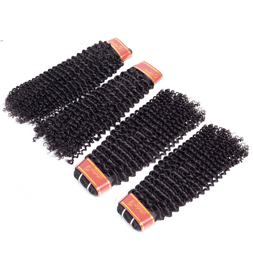 Peruvian Kinky Curly Human Hair 4 bundles/lot