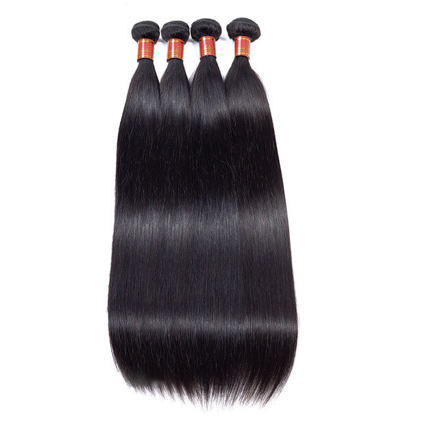 Brazilian Straight Human Virgin Hair 4 Bundles/Pack