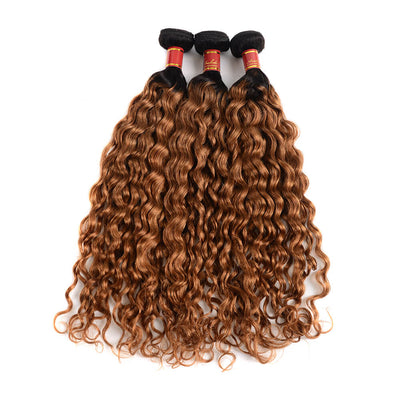 Brazilian Virgin Ombre T1b/30 Water Wave 3 Bundles/Pack
