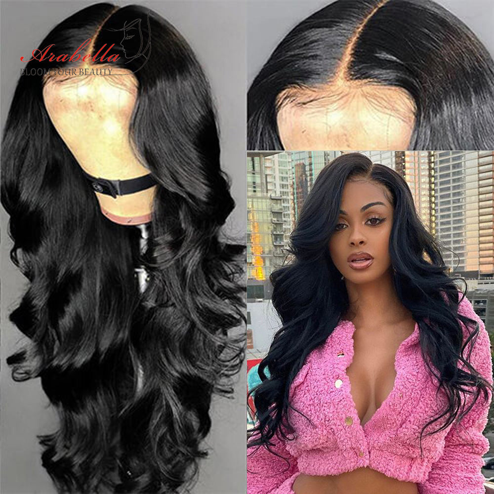 Transparent Lace Human Hair Wigs 13x4 Inch Lace Frontal Wig Long Body Wave 20%OFF CODE:TS20