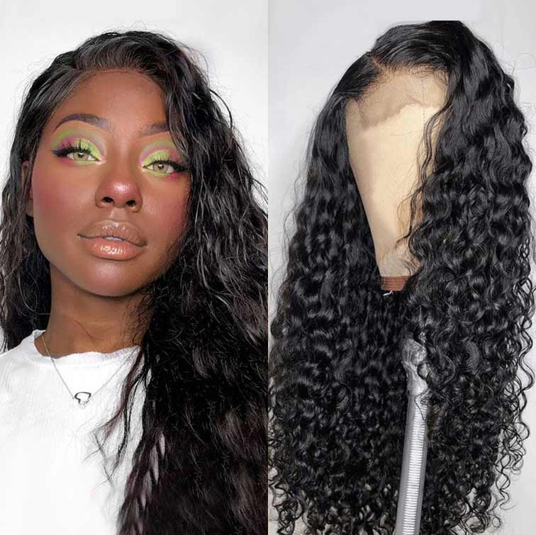 Arabella Human Hair Wigs Water Wave 13x4 Inch Lace Frontal Wig 210% Density