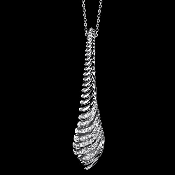 Pendant chain White gold - White diamond
