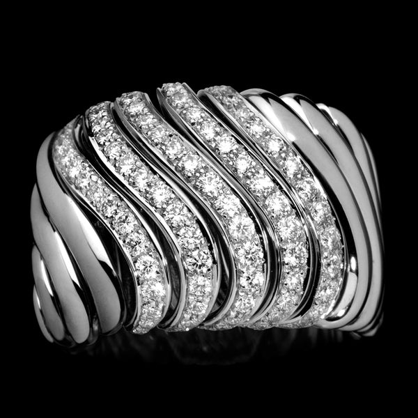 Ring White gold - White diamonds