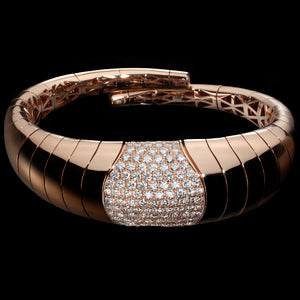 Bracelet Pink gold - White diamonds