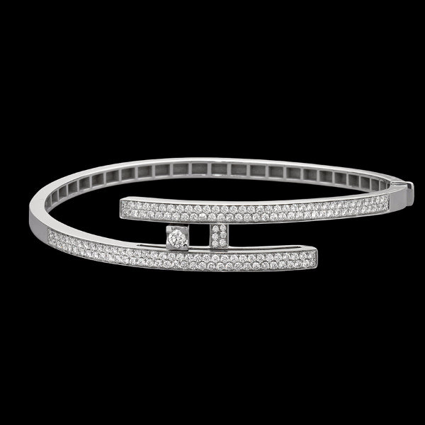 Bracelet pavè White gold - White diamonds