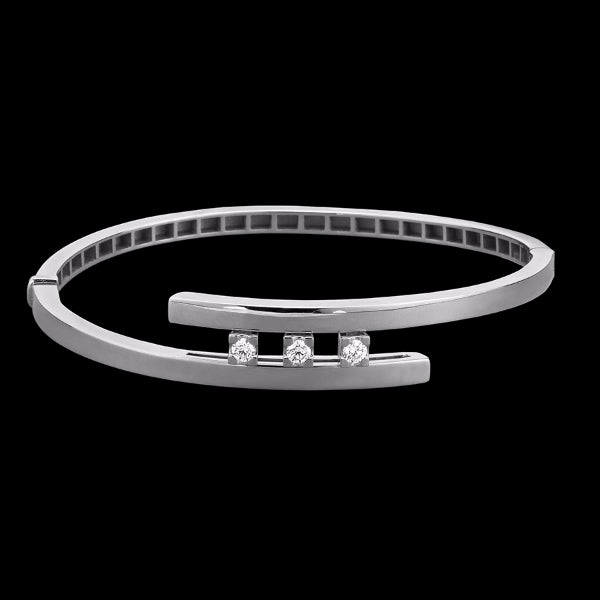 Bracelet 3 diamonds White gold - White diamonds