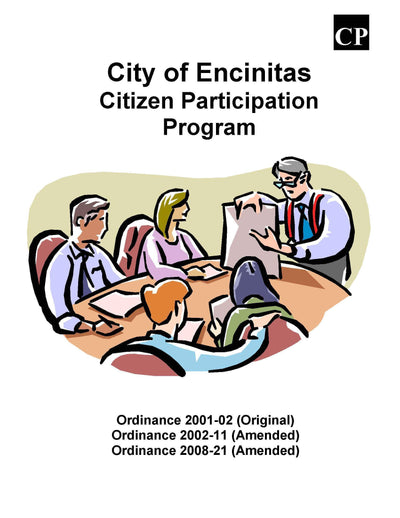 Encinitas San Diego Public Notification 300' radius Citizen Participation Plan