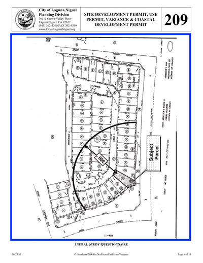 Laguna Niguel-Development Permit-Radius Map-Property Owner List-300 Feet-Labels