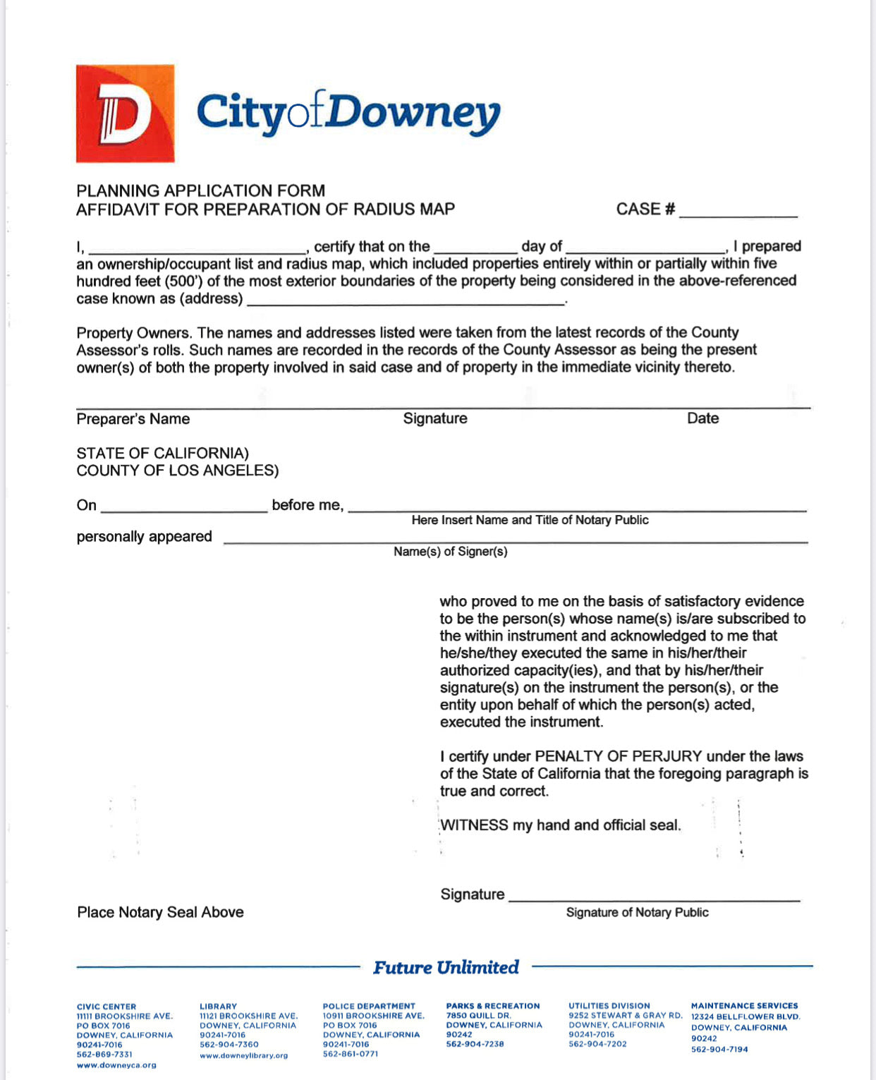 Downey - City Package