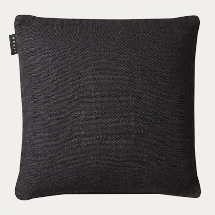 Linum Cushion - Raw - Black