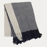 Linum Lecce Throw - Navy