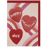 Happy Valentine's Day Card - Hearts and Rainbows
