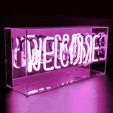 'Welcome' Acrylic Box Neon