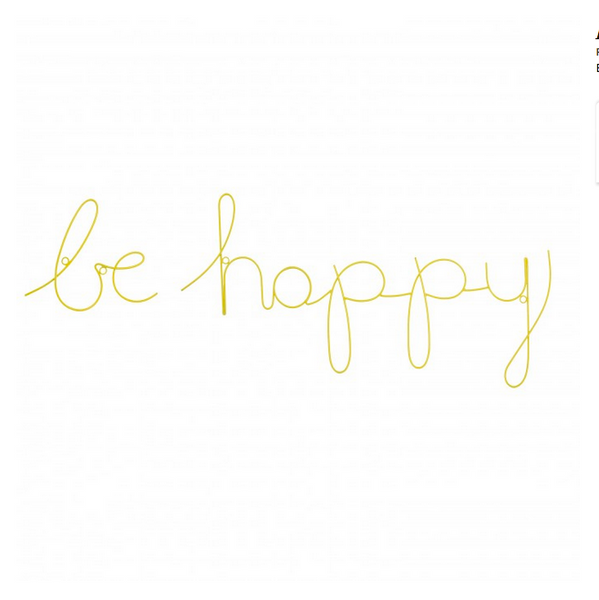Be Happy - Wire Word Yellow