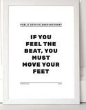 If you feel the Beat -  A3 Print - Framed