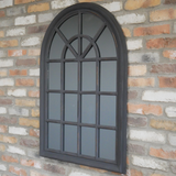 Black Painted Arch Mirror