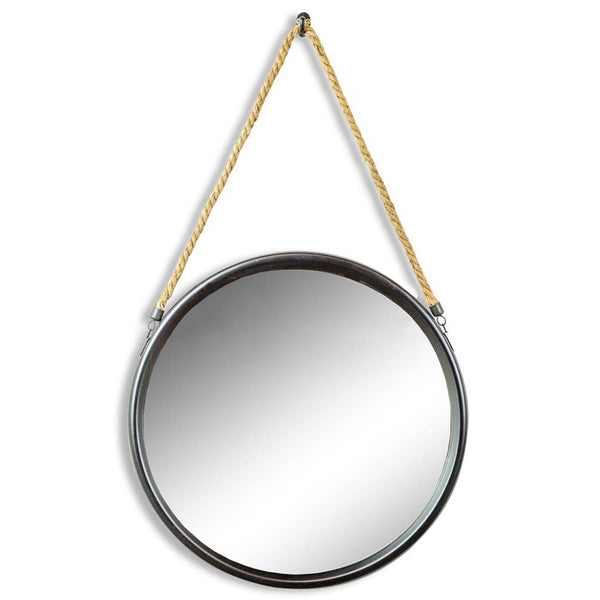 Black Metal Rope Mirror  - Small, Medium, Large